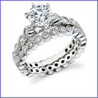 Gregorio 18K WG Diamond Engagement Set R-345