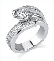 Gregorio 18K WG Diamond Engagement Ring. R-412