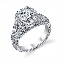 Gregorio 18K WG Diamond Engagement Ring R-567