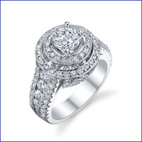 Gregorio 18K WG Diamond Engagement Ring R-562