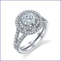 Gregorio 18K WG Diamond Engagement Ring R-560