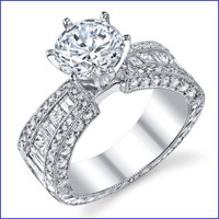 Gregorio 18K WG Diamond Engagement Ring R-547