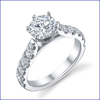 Gregorio 18K WG Diamond Engagement Ring R-546