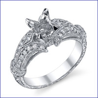 Gregorio 18K WG Diamond Engagement Ring R-544