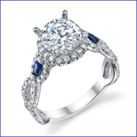 Gregorio 18K WG Diamond Engagement Ring R-543