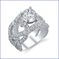 Gregorio 18K WG Diamond Engagement Ring R-520