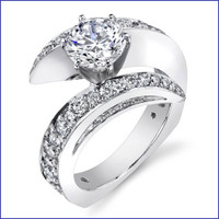 Gregorio 18K WG Diamond Engagement Ring R-442