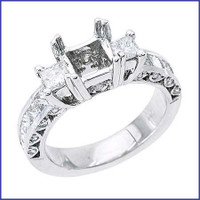 Gregorio 18K WG Diamond Engagement Ring R-364