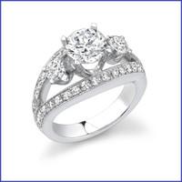 Gregorio 18K WG Diamond Engagement Ring R-318