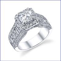 Gregorio 18K WG Diamond Engagement Ring R-304-1