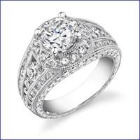Gregorio 18K WG Diamond Engagement Ring R-288-1
