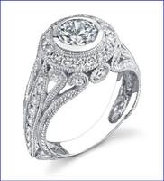 Gregorio 18K WG Diamond Engagement Ring R-286-1