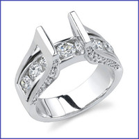 Gregorio 18K WG Diamond Engagement Ring R-246-1