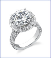 Gregorio 18K WG Diamond Engagement Ring R-1870