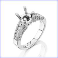 Gregorio 18K WG Diamond Engagement Ring & Band MTR-156
