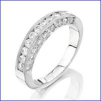 Gregorio 18K WG Diamond Engagement Ring & Band MTR-156-Band