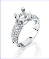 Gregorio 18K WG Diamond Engagement Ring S-1766