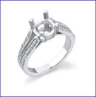 Gregorio 18K WG Diamond Engagement Ring R-7088