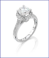 Gregorio 18K WG Diamond Engagement Ring R-6451