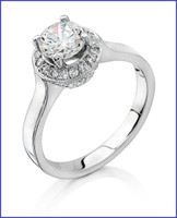 Gregorio 18K WG Diamond Engagement Ring R-6399