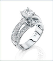 Gregorio 18K WG Diamond Engagement Ring R-6360