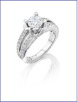 Gregorio 18K WG Diamond Engagement Ring R-5870