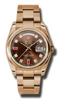 Rolex Watches Day-Date President PG Domed Bezel Oyster 118205CHODRO