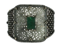 Jade, Emerald & 12.15 ct Diamond Bangle