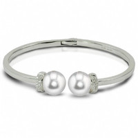 Imperial Gold Bracelet with quality South Sea Pearls & Diamonds CSB014/WH