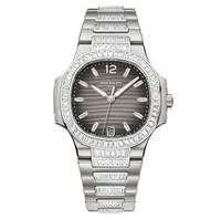 Patek Philippe Nautilus Automatic Diamonds WG WoWatch 7018/1A-001