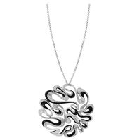 Van Der Bauwede 18K WG Diamond Waves Pendant 00580
