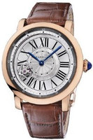 Cartier Rotonde Astrotourbillon (RG/ Silver/Leather)