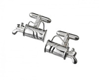 Thistle & Bee Silver Golf Bag Cufflinks