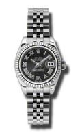 Rolex Datejust Lady Steel Fluted Bezel Jublilee Bracelet 179174BKSBRJ