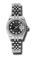 Rolex Datejust Lady Steel Fluted Bezel Jublilee Bracelet 179174BKJDJ