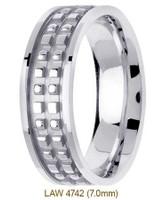 Men's Diamond Wedding Band 14K:White LAW4742M