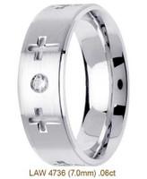 Men's Diamond Wedding Band 14K:White LAW4736M