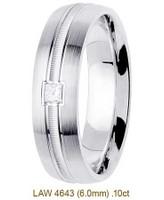 Men's Diamond Wedding Band 14K:White LAW4643M