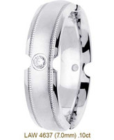 Men's Diamond Wedding Band 14K:White LAW4637M
