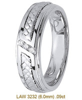Men's Diamond Wedding Band 14K:White LAW3232M