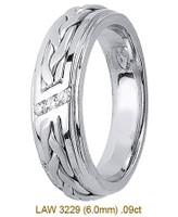 Men's Diamond Wedding Band 14K:White LAW3229M