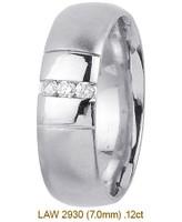 Men's Diamond Wedding Band 14K:White LAW2930M