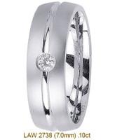 Men's Diamond Wedding Band 14K:White LAW2738M