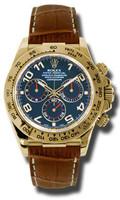 Rolex Daytona Yellow Gold Leather116518BIABR