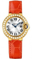 Cartier Ballon Bleu Small (YG Diamonds/Silver/ Leather)
