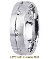 Men's Diamond Wedding Band 14K:White LAW2735M