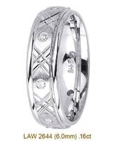Men's Diamond Wedding Band 14K:White LAW2644M