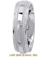 Men's Diamond Wedding Band 14K:White LAW2640M