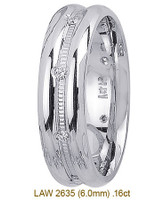 Men's Diamond Wedding Band 14K:White LAW2635M