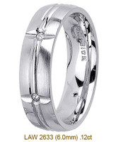 Men's Diamond Wedding Band 14K:White LAW2633M